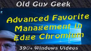 Edge Chromium - Advanced Favorite Management Including Search!