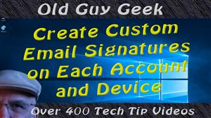 Create Custom Email Signatures For Each Account and Device Combination