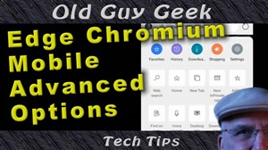 Edge Chromium on Android Mobile Advanced Options